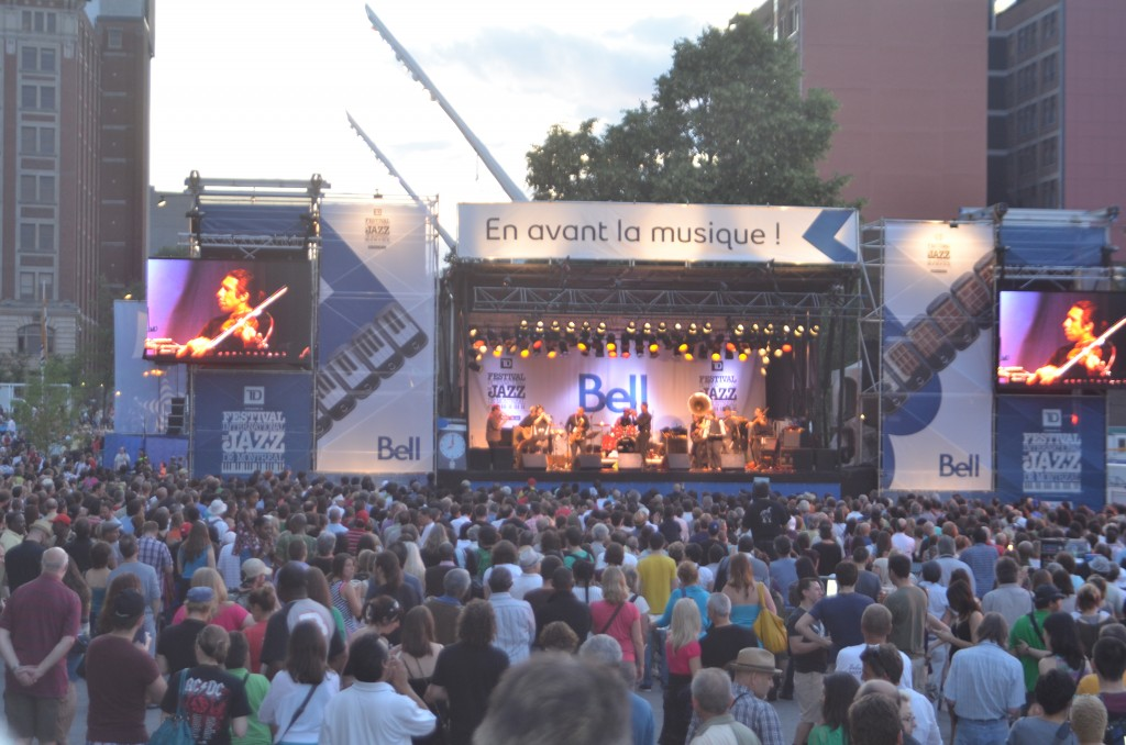 Free jazz concert at Montreal Jazz Festival